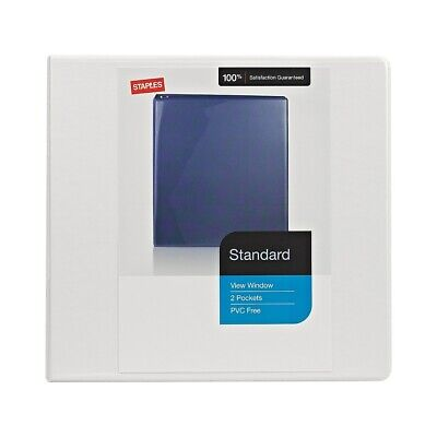 Staples Standard 5-Inch D 3-Ring View Binder White  976179