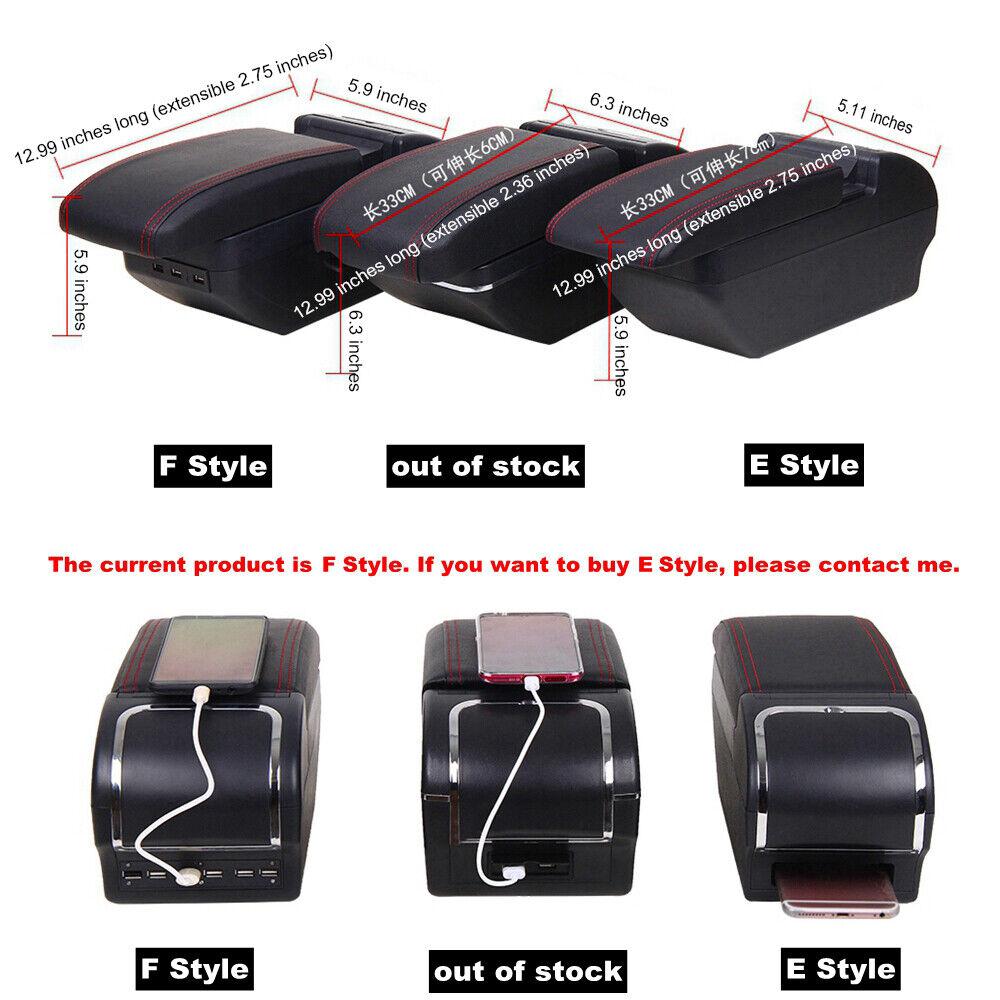 Armrest Console Storage Box For Honda BRV 2006-2019 Double Layer Arm Rest