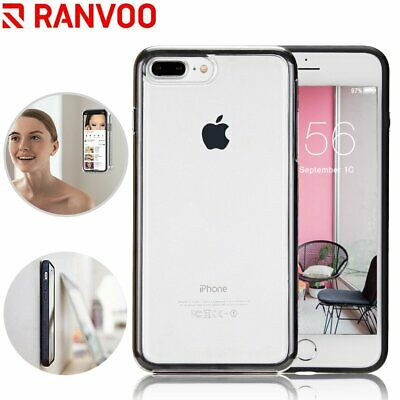 RANVOO Case For iPhone 7 8 Plus Clear Magnetic Anti-Gravity Selfie Sticky Cover