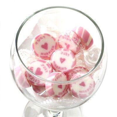 Bonbons Rock Sweets Just Married ca. 50 Stk. rosa Hochzeitsmandeln Gastgeschenk