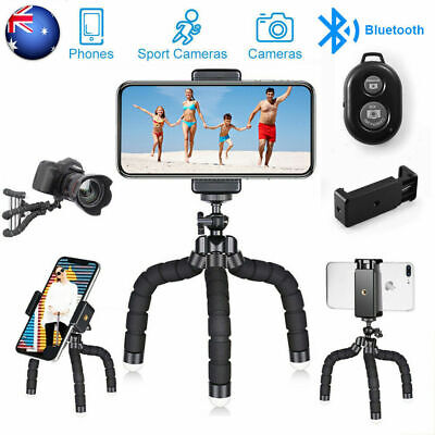 Phone Tripod Flexible Stand Holder Mini Travel Tripod with Bluetooth Remote