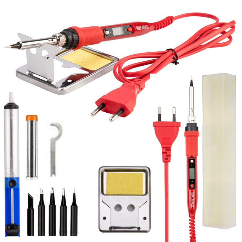 10pcs 220V80W LCD Electric Soldering iron 908S Adjustable Te