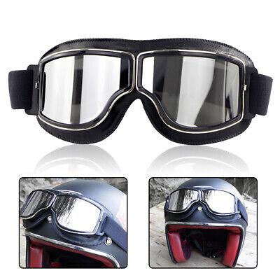 Vintage Retro Motorcycle Steampunk Aviator Pilot Goggles Flying Glasses Eyewear
