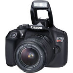 Canon EOS Rebel T6 18.0MP Digital SLR Camera - Black (Kit w/ EF-S IS II 18-55mm and EF III 75-300mm
