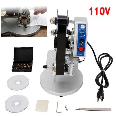 110v Dy-8 Ribbon Manual Hot Foil Stamping Machine Date Coder Printer Thermal Top