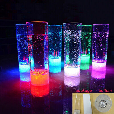 NEW! LED LIGHT BLINKING 13.5oz COCKTAIL DRINKING GLASS - SOLID COLOR OR CHANGING