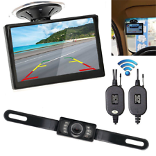 "5"" Monitor Car Rear View System Backup Reverse Camera Night Vision Kit Wireless"