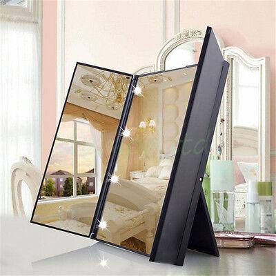 Foldable Make Up Vanity Illuminated Desktop Table Makeup Mirror with LED Lights