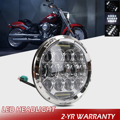 7'' Inch Round LED Headlight Hi/Lo Seal Beam Bulbs 105W For Jeep Wrangler JK