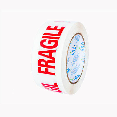 Warning Fragile Tape carton sealing printed packing tape 2 inches wide. 2 pcs.