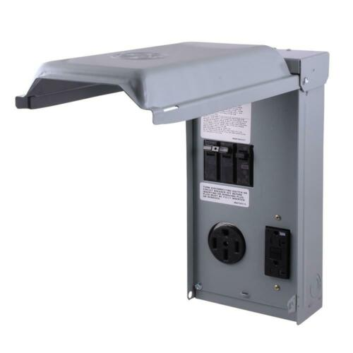 RV Panel with 50 Amp RV Receptacle and 20 Amp GFCI Receptacle Power Distribution
