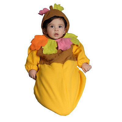 Adorable Infant Acorn Outfit By Dress Up America - 0-12 Months](Acorn Halloween Costume)