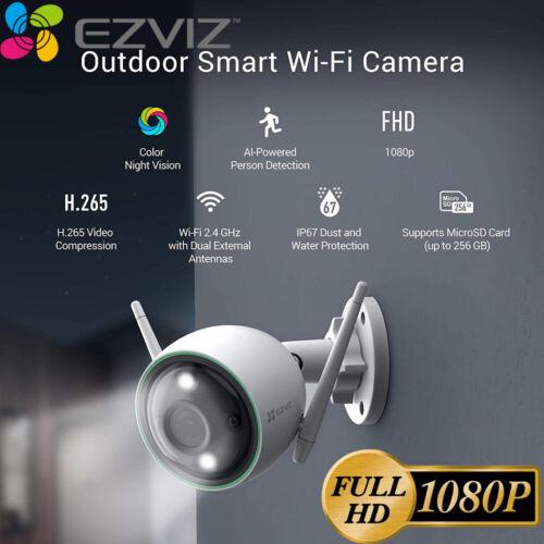 EZVIZ Outdoor Security Camera WIFI 1080P Smart APP Colored Night Vision C3N