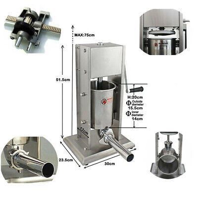 3l 8lb Industrial Commercial Sausage Stuffer Vertical Stainsteel Meat Kitchen