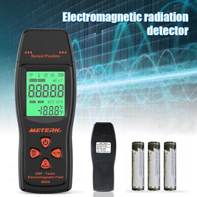 Meterk LCD Digital EMF Tester Electromagnetic Field Radiation Detector Meter