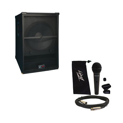"""Peavey SP 118 Pro Audio DJ Passive 2400W 18"""" PA Sub Subwoofer & PVi 100 Mic New for sale  Shipping to Canada"""
