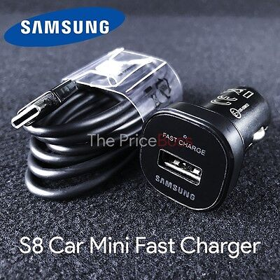 Original Samsung Galaxy S8 S8 Plus S9+ Adaptive Fast OEM USB Type C+ Car Charger