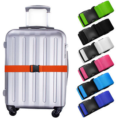 Adjustable Travel Luggage Lock Safe Belt Packing Suitcase Baggage Backpack Strap