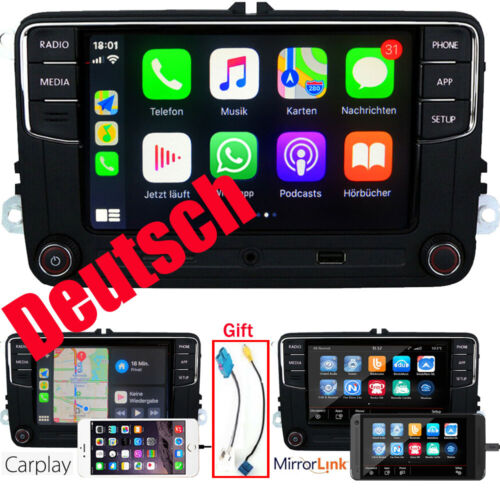 Deutsch Autoradio RCD330 CarPlay BT USB SD RVC Für VW GOLF 5 6 Passat Caddy Polo