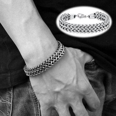 Boys Bracelets (Men Fantastic Silver Stainless Steel Cuff Wristband Bangle Boy's Cool)