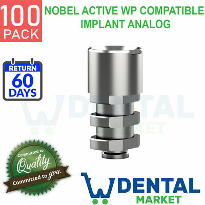 X 100 Nobel Active Wp Compatible Implant Analog