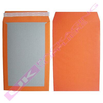 25 x LARGE ORANGE A4 C4 HARD BOARD BACKED SELF SEAL POSTAL ENVELOPES 229x324mm
