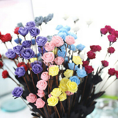 Artificial Fake Flower Rose Floral Wedding Party Bouquet Bridal Hydrangea  mt