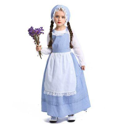 Kids Farmer Costume (Girls Farm Farmer Costume Cosplay Kids Maid Costume Halloween Costume For)