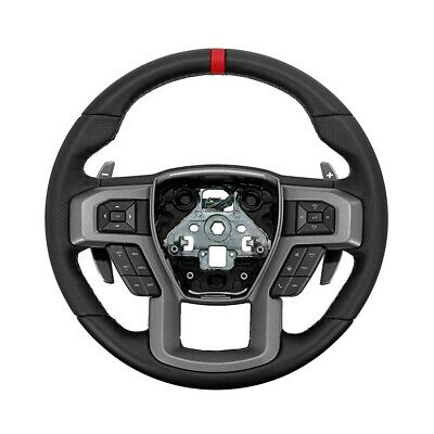 Ford Performance Raptor Steering Wheel Kit for 2015-2018 F-150 W/ Red Sight line ()