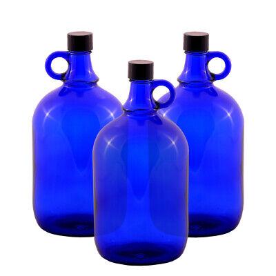 3 Unidad Globo de Cristal Botella 2 Litros Azul - Galón Damajuana...
