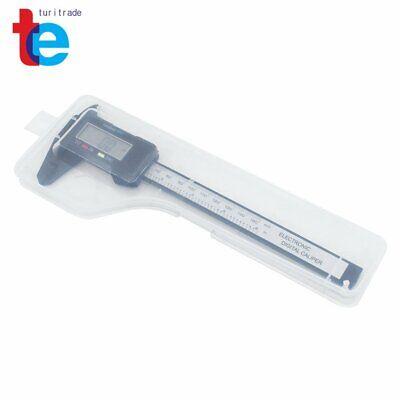 150mm 6 Digital Caliper Electronic Gauge Carbon Fiber Vernier Micrometer Ruler