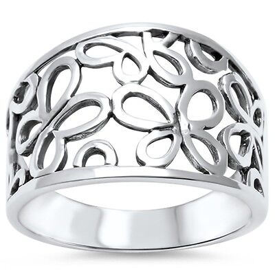 Cute Butterfly Cut out Filigree Band .925 Sterling Silver Ring Sizes 5-10 Cut Out Butterfly Ring