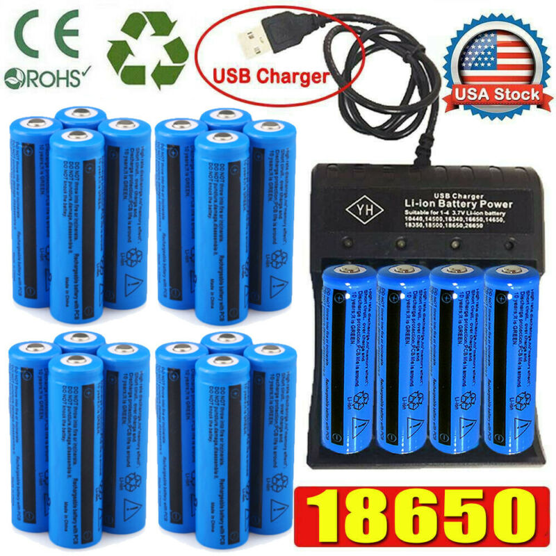 20X UltraFire 18650 Quality Batteries 3.7V Li-ion Rechargeab