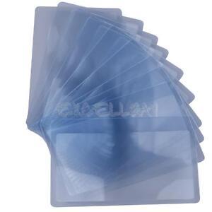 10 PCS LARGE SHEET 3X MAGNIFIER MAGNIFYING GLASSES VISION AID FRESNEL LENS NEW