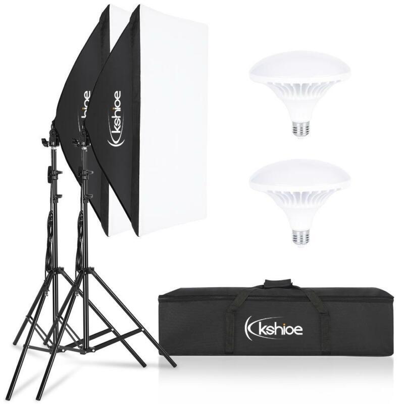 Photography Studio Dimmable LED Lamp Softbox Lighting Soft Box Light Stand Kit