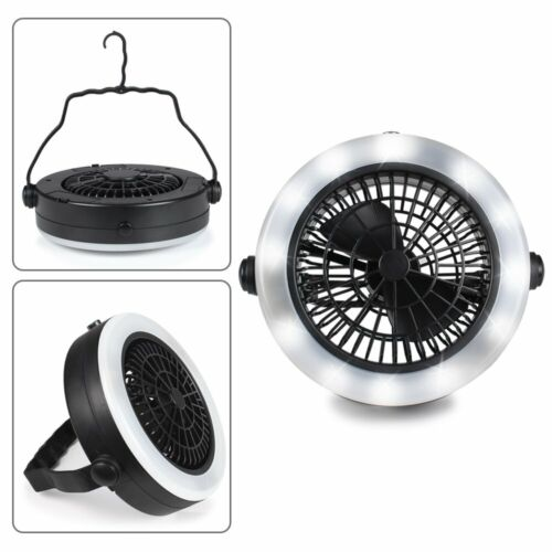 Outdoor Camping Portable Batteries LED Fan Light Hanging Tent Lamp