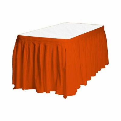 Plastic Table Skirt (Touch of Color Easy Stick Plastic Table Skirt, 14-Feet, -)
