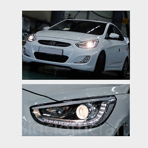 LED-Projection-Day-Light-Head-Light-Lamp-Left-OEM-for-Hyundai-ACCENT-2012-2014