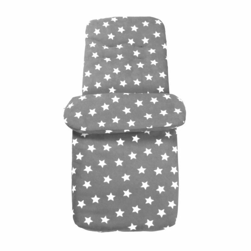 Clair de Lune Universal Stroller Pushchair Fleece Footmuff + Seatliner Grey Star