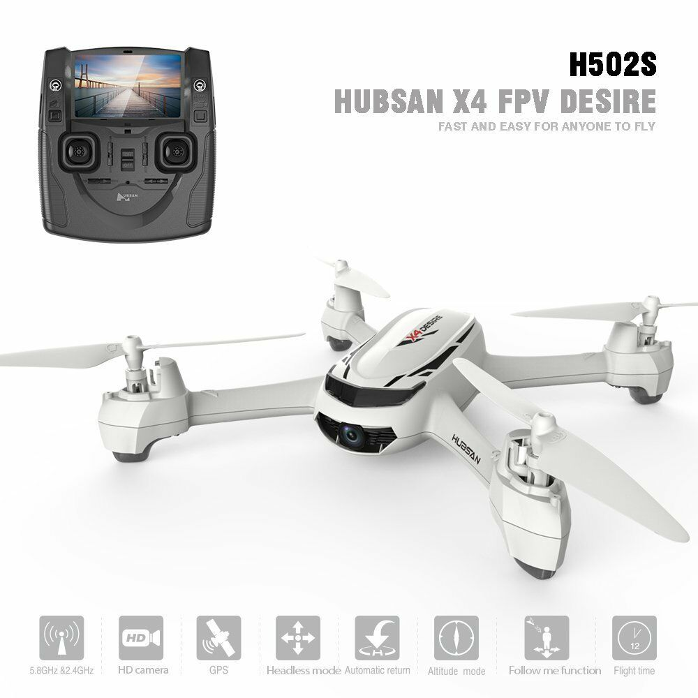 Hubsan H502S FPV X4 Desire GPS Quadcopter with 720p HD Camera White New