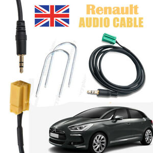 Renault Clio Megane 2005+ Update List Aux-IN Adaptor Cable iPhone MP3/3.5mm Jack