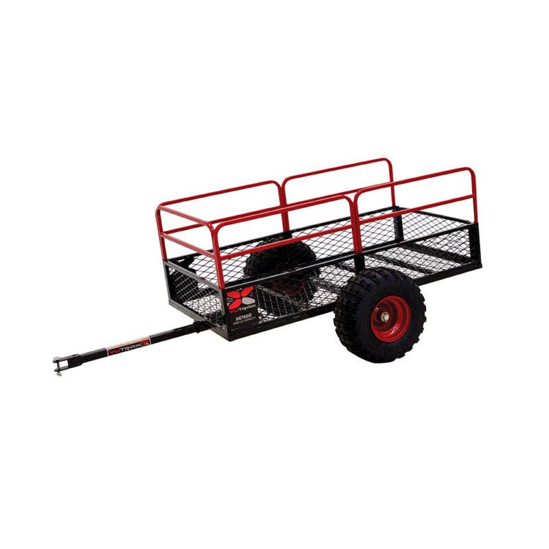 Yutrax TX162 Heavy Duty 1500 Pound Capacity Off Road Utility ATV Trailer, Black