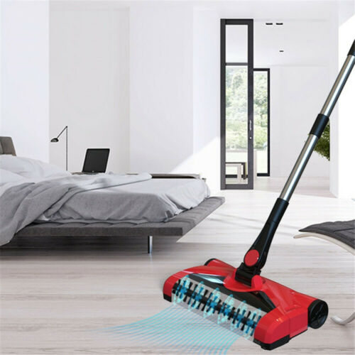 Stick Sweeper Broom Swivel Sweep Cordless Hard Floor Cleaner With Microfiber Mop Cleaning Tools