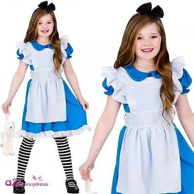 Klassische Märchenbuch Alice Kind Mädchen Kostüm Karneval 3-13 - Klassische Kind Kostüm