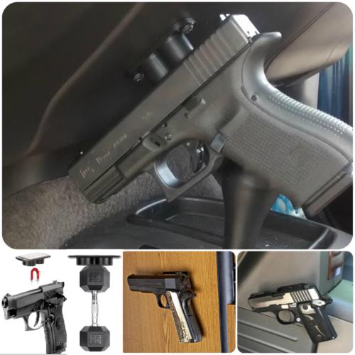 Vehicle Holster Magnet Concealed Gun Pistol Magnetic