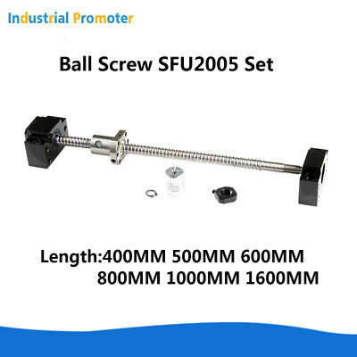 Ballscrew Sfu2005 L400mm1600mm With 1 Set Bk15bf15 Coupler D25l30 6.3512mm