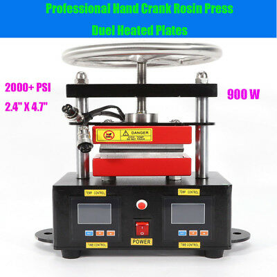 Hot Professional Rosin Press Hand Crank Duel Heated Plates 2.4