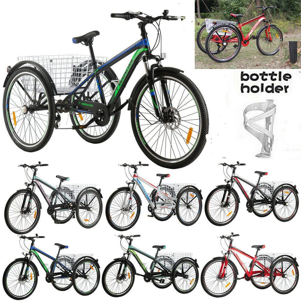 "26"" Mountain Tricycle 7Speed Adult 3Wheel Bike Trike Adjusta"