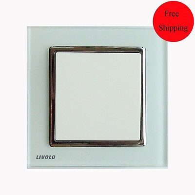Livolo 1 Gang 1 Way Crystal Glass key board Light Switch (UK Type)