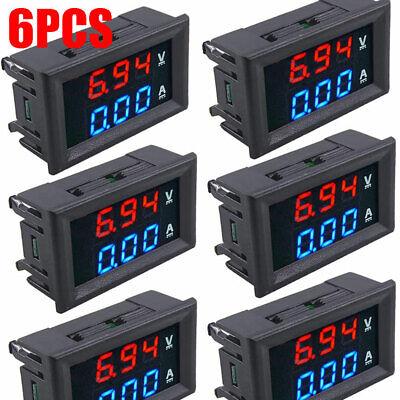Mini Dc 100v 10a Digital Voltmeter Ammeter Blue Red Led Volt Amp Meter Gauge Tos